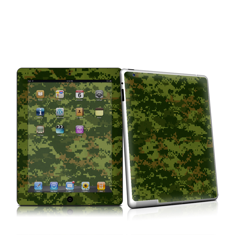 iPad 2nd Gen Skin design of Military camouflage, Green, Pattern, Uniform, Camouflage, Clothing, Design, Leaf, Plant with green, brown colors
