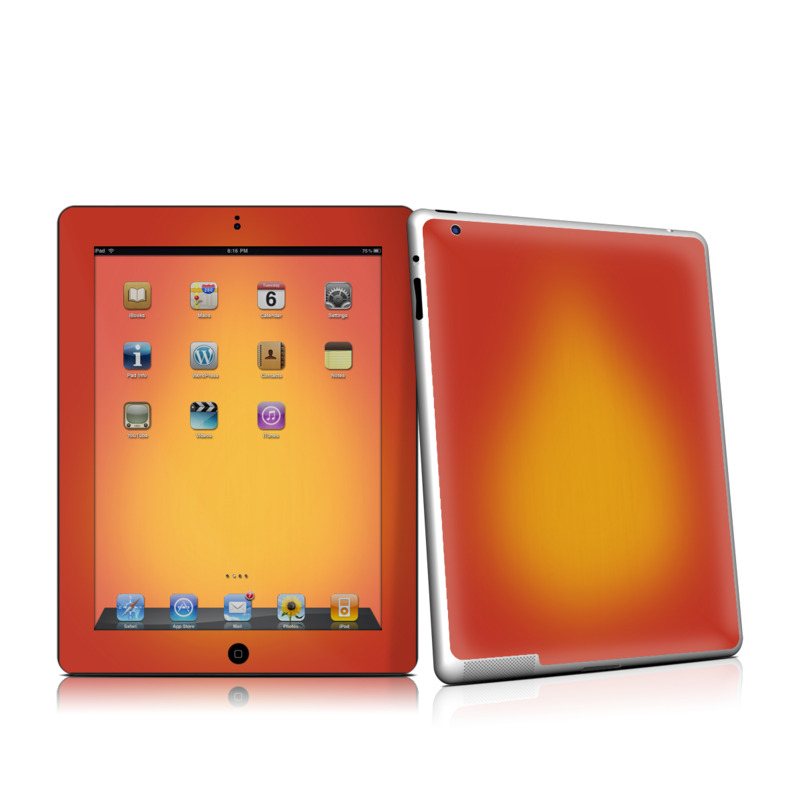 iPad 2nd Gen Skin design of Red, Orange, Yellow, Green, Amber, Sky, Peach, Colorfulness with orange, yellow colors