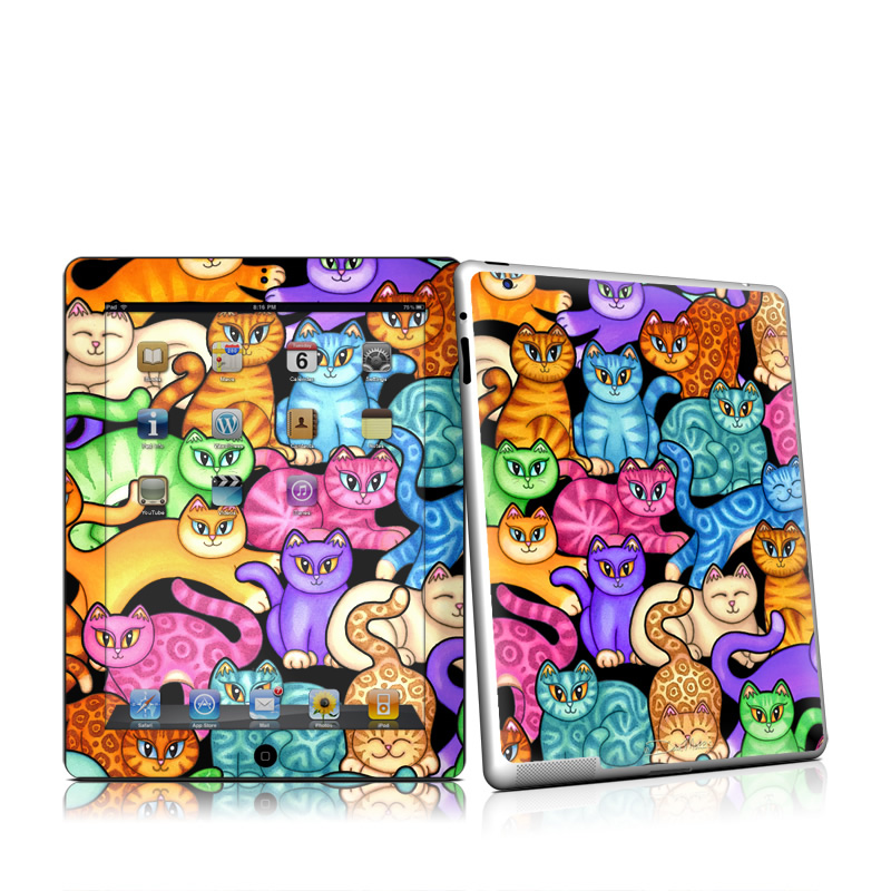 Colorful Kittens iPad 2nd Gen Skin