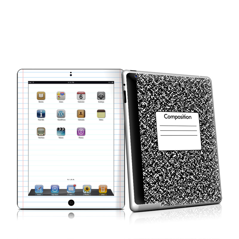 Composition Notebook iPad 2nd Gen Skin