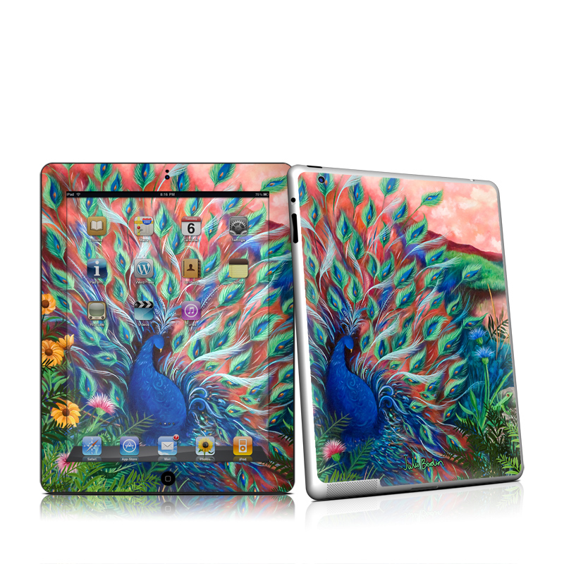 Coral Peacock iPad 2nd Gen Skin
