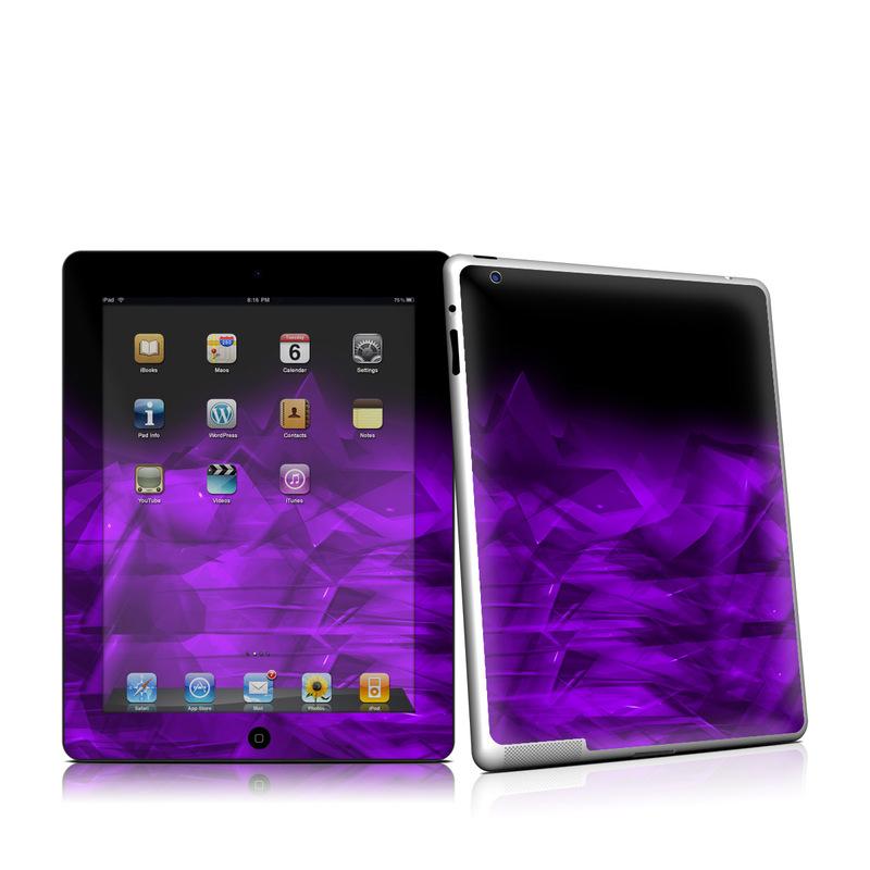 Dark Amethyst Crystal iPad 2 Skin
