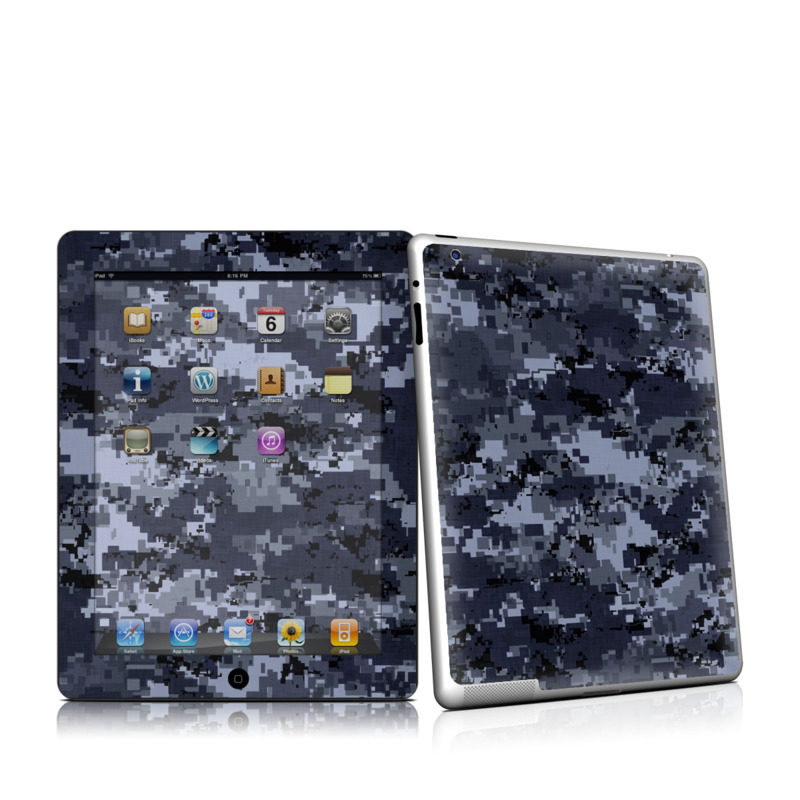 Digital Navy Camo iPad 2nd Gen Skin