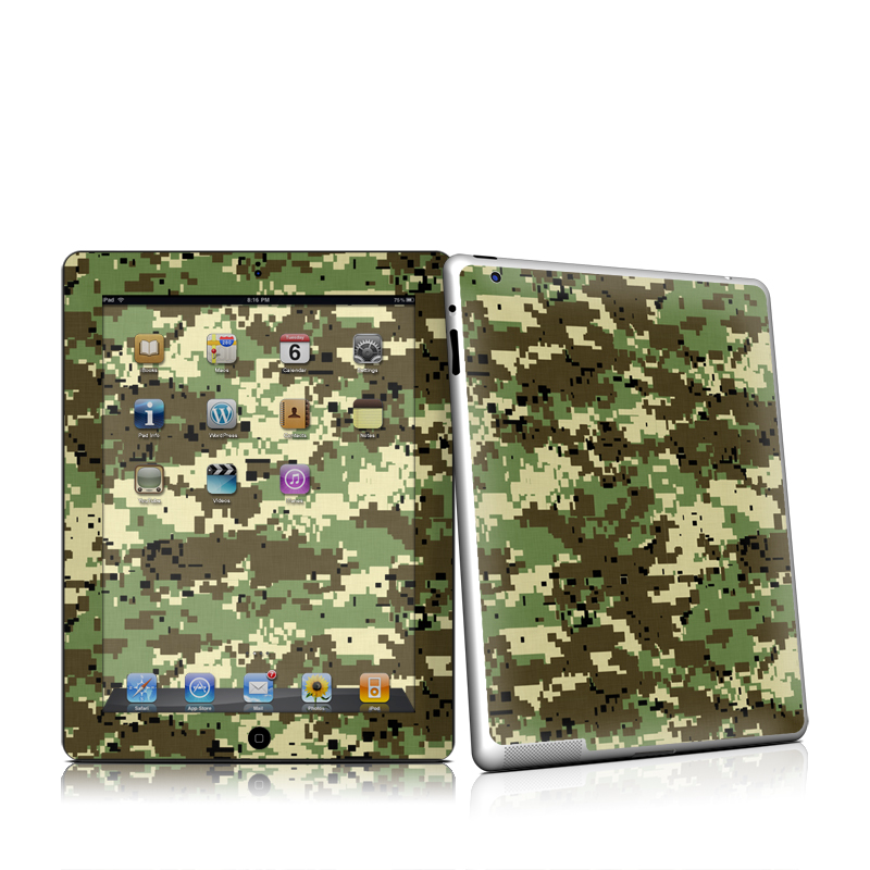 Digital Woodland Camo Apple iPad 2 Skin