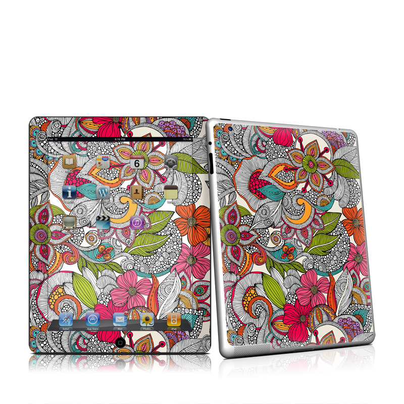 Doodles Color Apple iPad 2 Skin