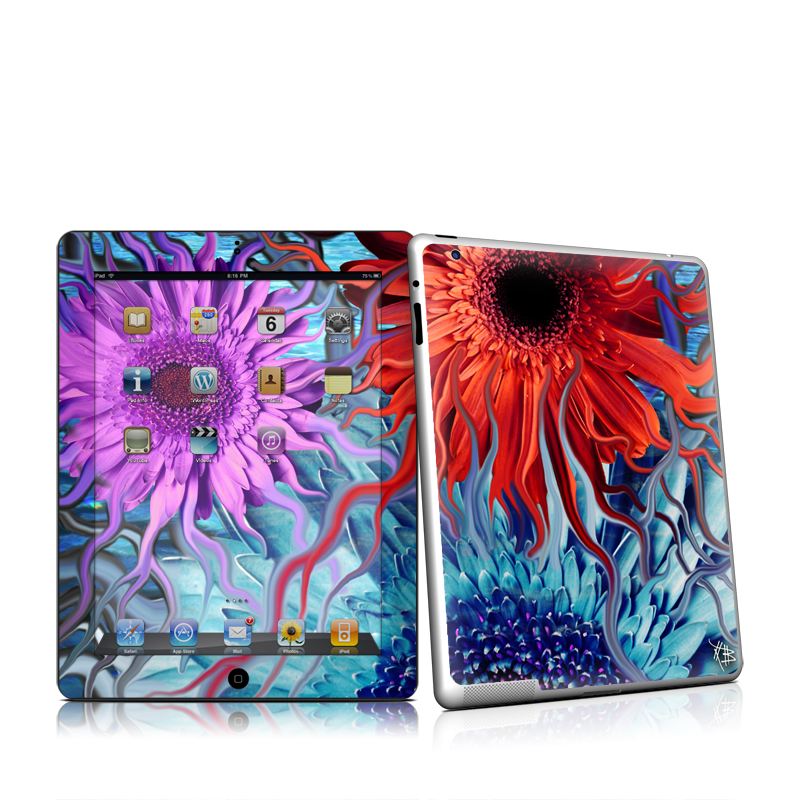 Deep Water Daisy Dance iPad 2nd Gen Skin