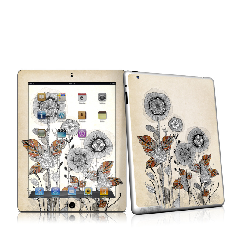 Four Flowers iPad 2nd Gen Skin
