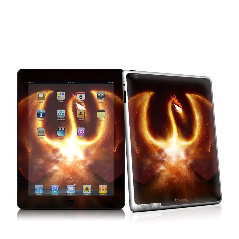 Fire Dragon iPad 2 Skin