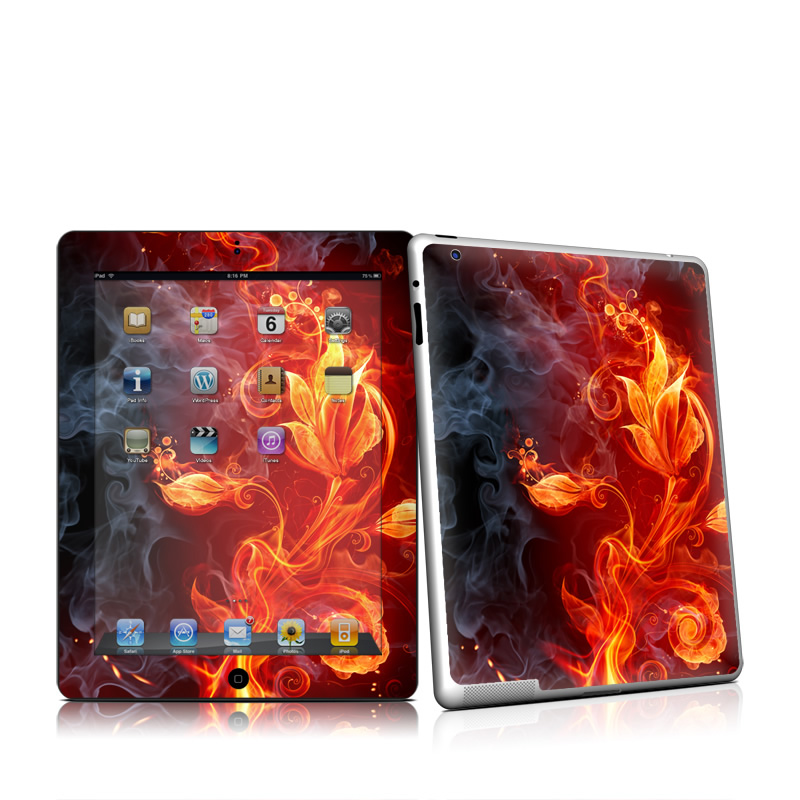 Flower Of Fire Apple iPad 2 Skin