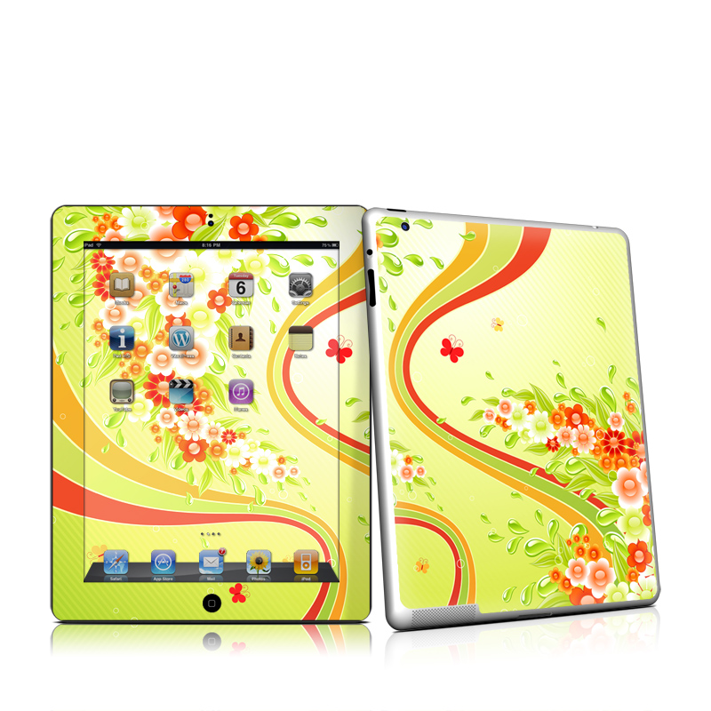 Flower Splash iPad 2 Skin