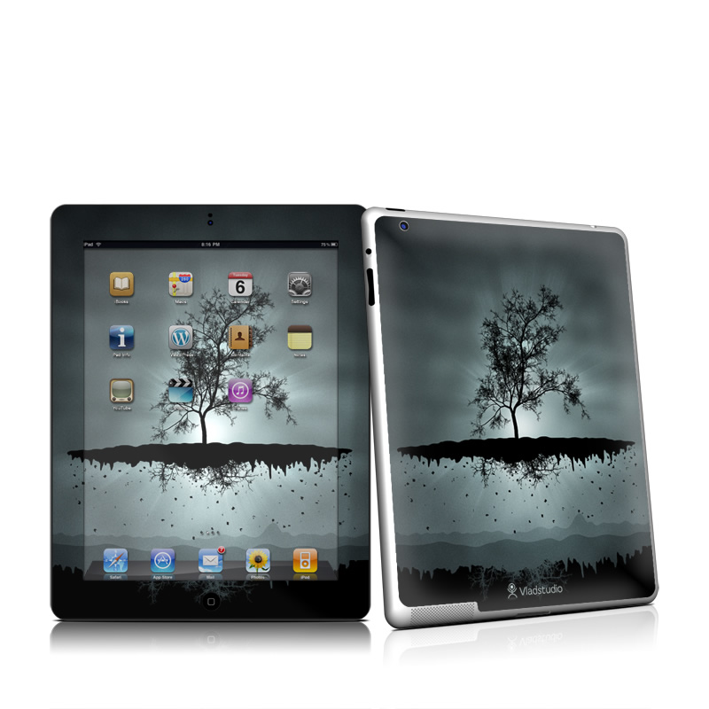 Flying Tree Black iPad 2nd Gen Skin
