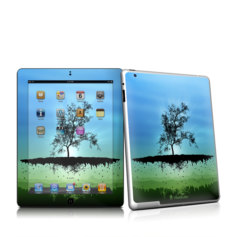 Flying Tree Blue iPad 2 Skin