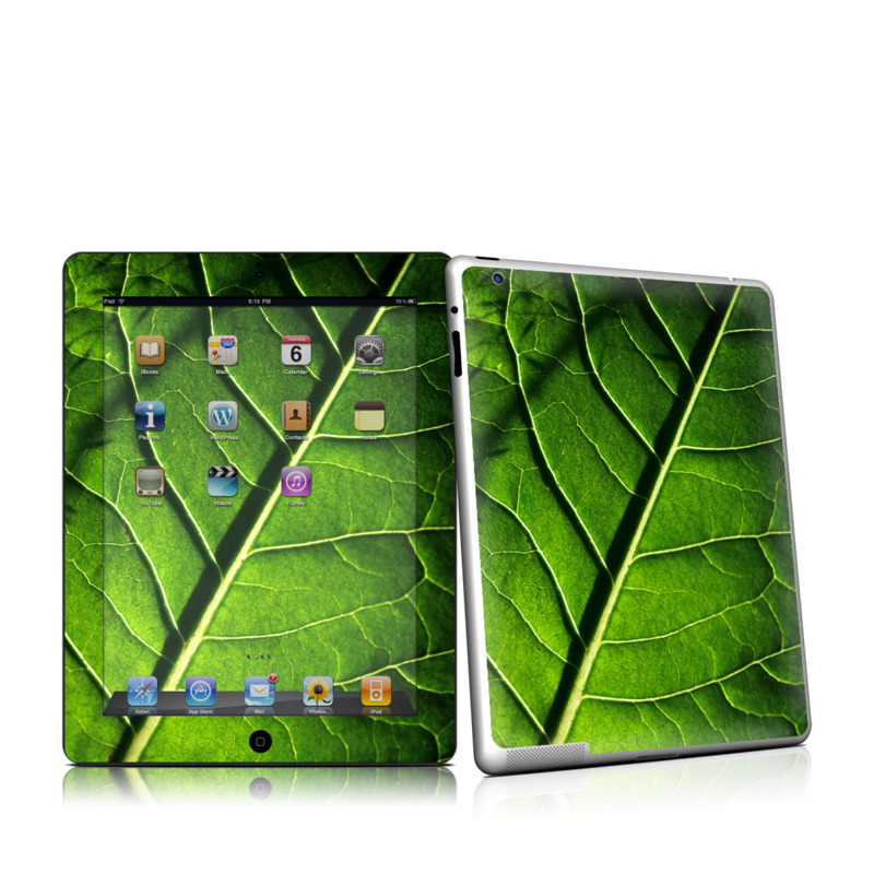 Green Leaf Apple iPad 2 Skin