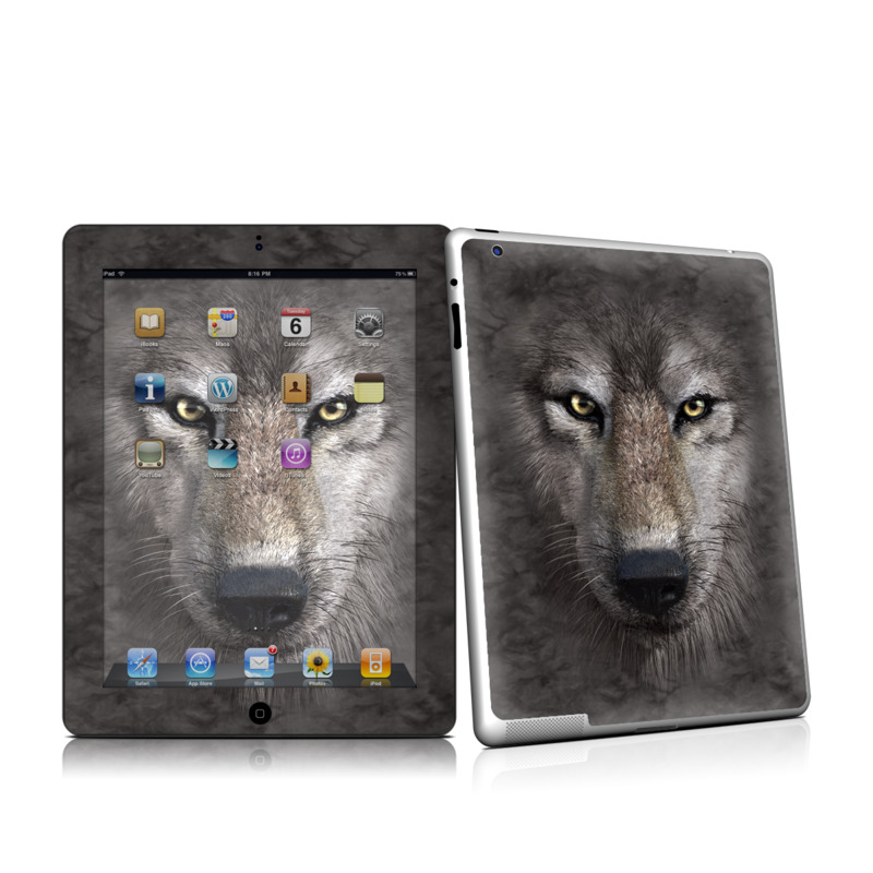 Grey Wolf iPad 2nd Gen Skin