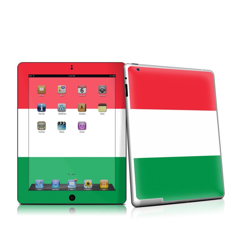 Italian Flag Apple iPad 2 Skin - Covers Apple iPad 2 for ...