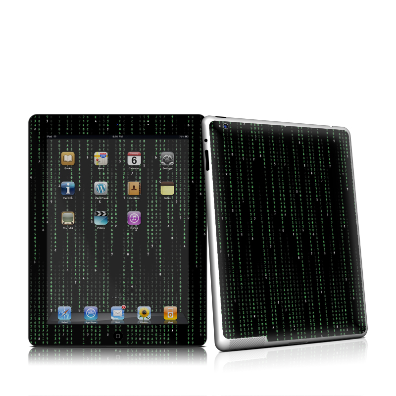 Matrix Style Code iPad 2nd Gen Skin