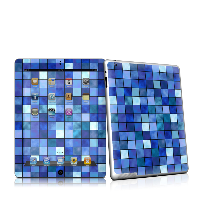 Blue Mosaic Apple iPad 2 Skin