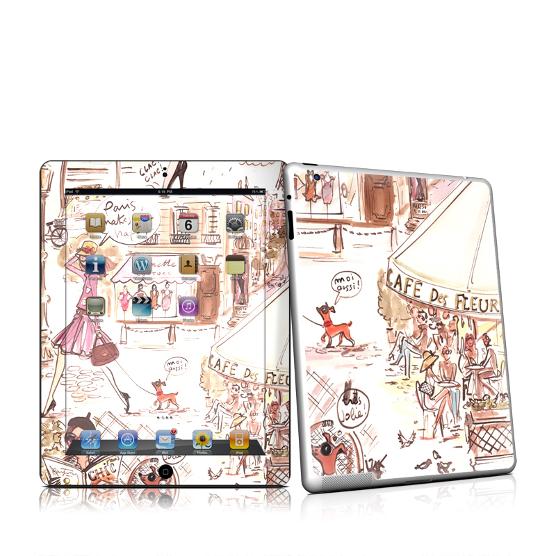 Paris Makes Me Happy iPad 2 Skin