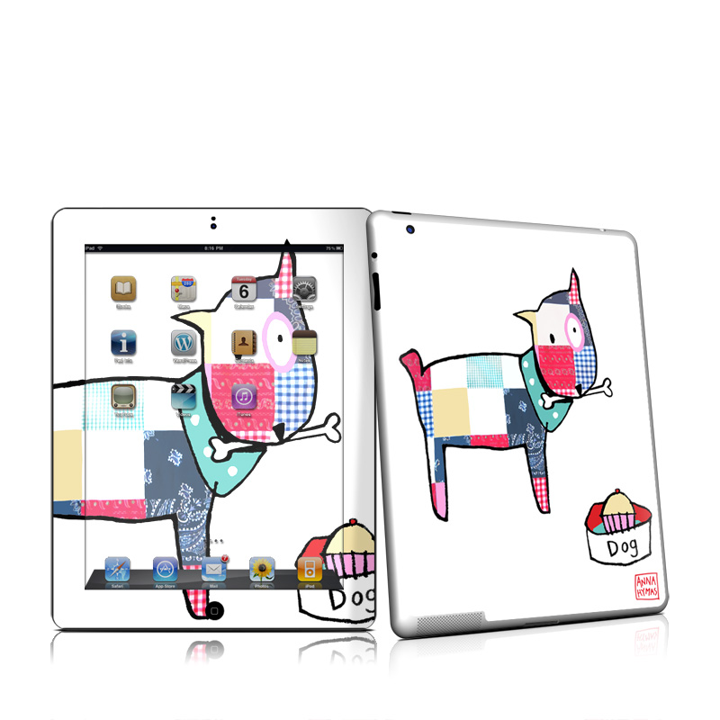 iPad 2nd Gen Skin design of Cartoon, Illustration, Graphic design, Font, Clip art, Line, Design, Art, Graphics, Drawing with white, gray, black, pink, blue, red colors
