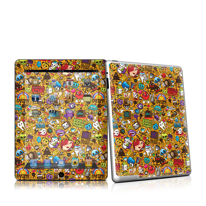 Psychedelic Apple iPad 2 Skin