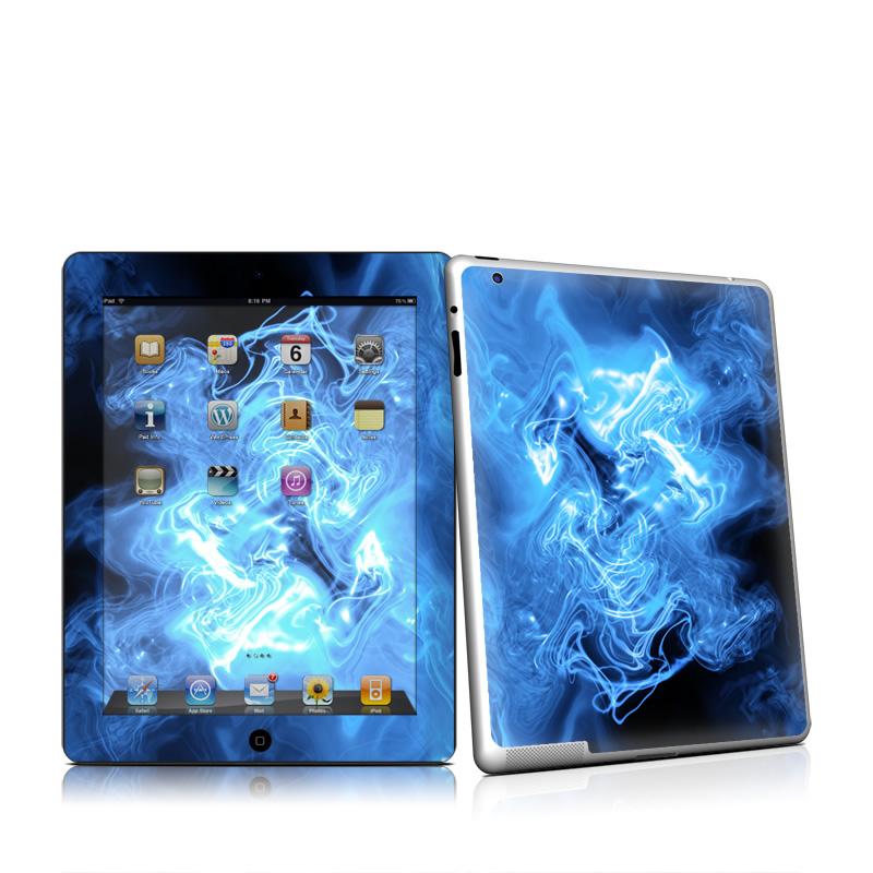 Blue Quantum Waves iPad 2nd Gen Skin