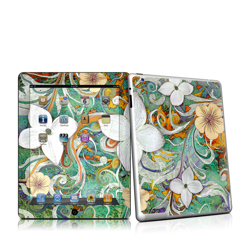 Sangria Flora Apple iPad 2 Skin
