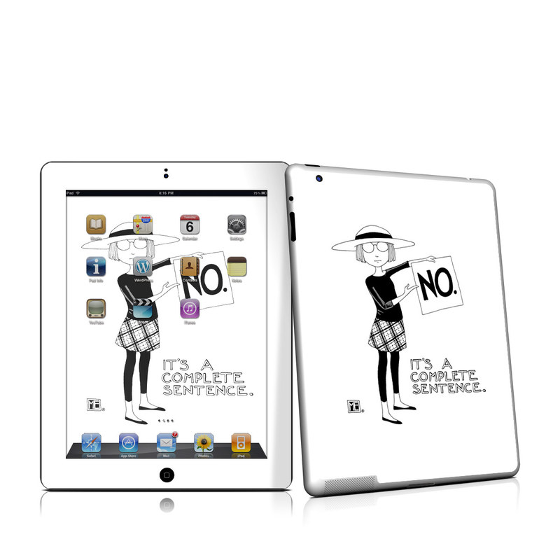 iPad 2nd Gen Skin design of Cartoon, Illustration, Design, Font, Black-and-white, Pattern, Style with white, black colors