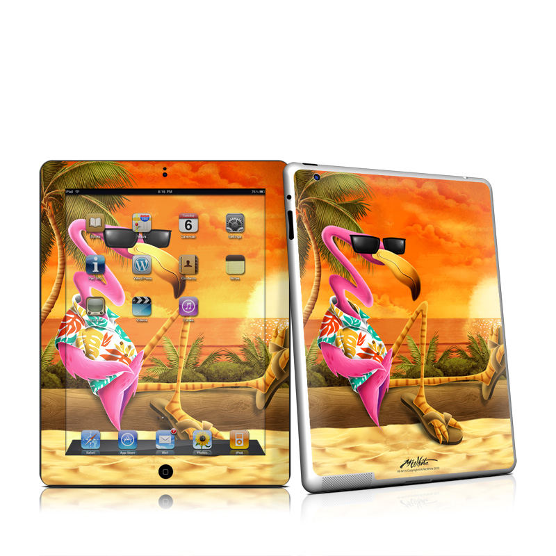 Sunset Flamingo iPad 2 Skin