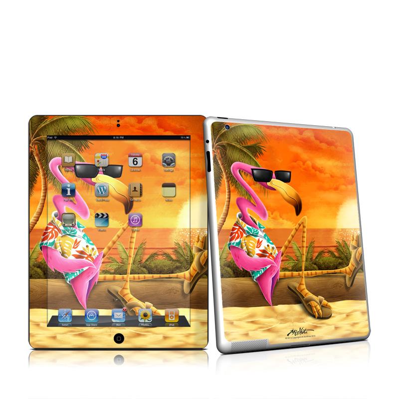 Sunset Flamingo Apple iPad 2 Skin