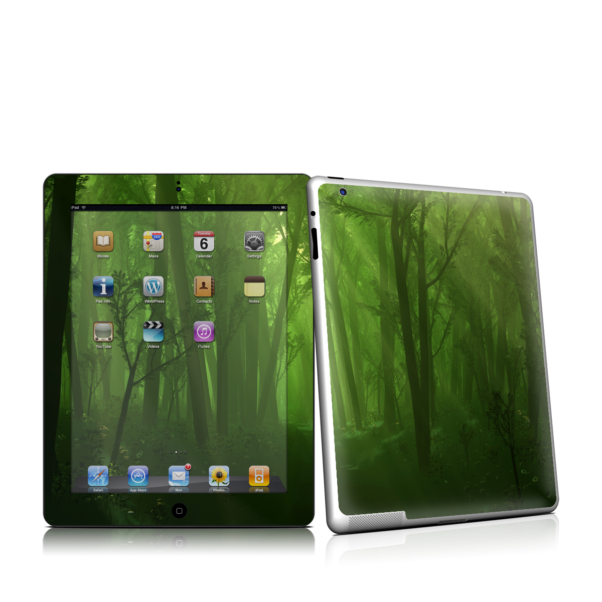 Spring Wood iPad 2nd Gen Skin
