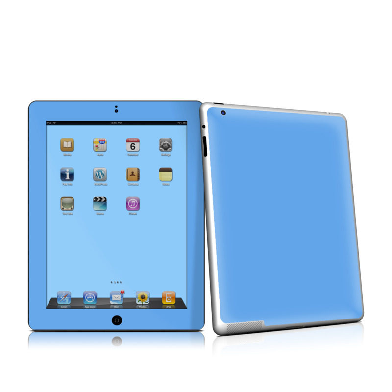 Solid State Blue iPad 2nd Gen Skin