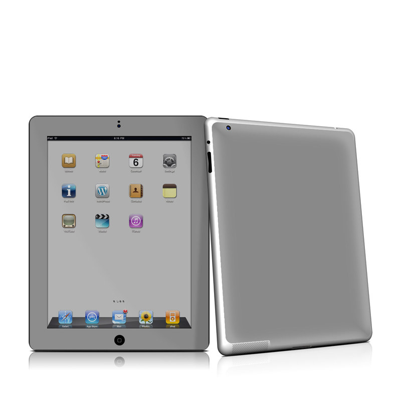 Solid State Grey iPad 2nd Gen Skin