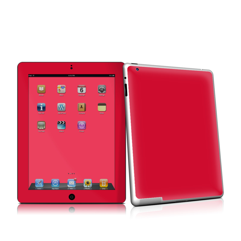 Solid State Red iPad 2nd Gen Skin