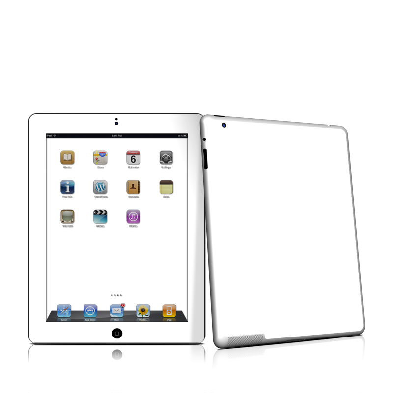 Solid State White Apple iPad 2 Skin