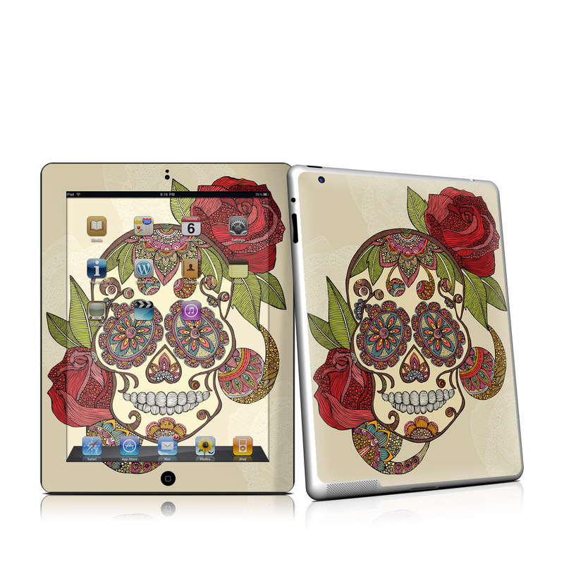 Sugar Skull iPad 2nd Gen Skin