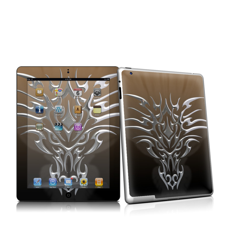 Tribal Dragon Chrome iPad 2 Skin