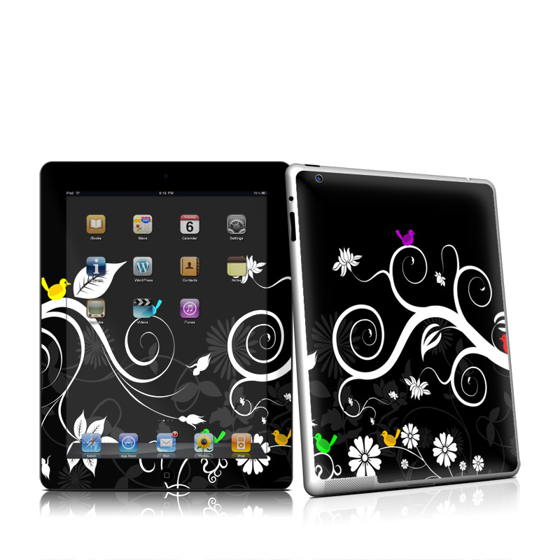 Tweet Dark iPad 2nd Gen Skin