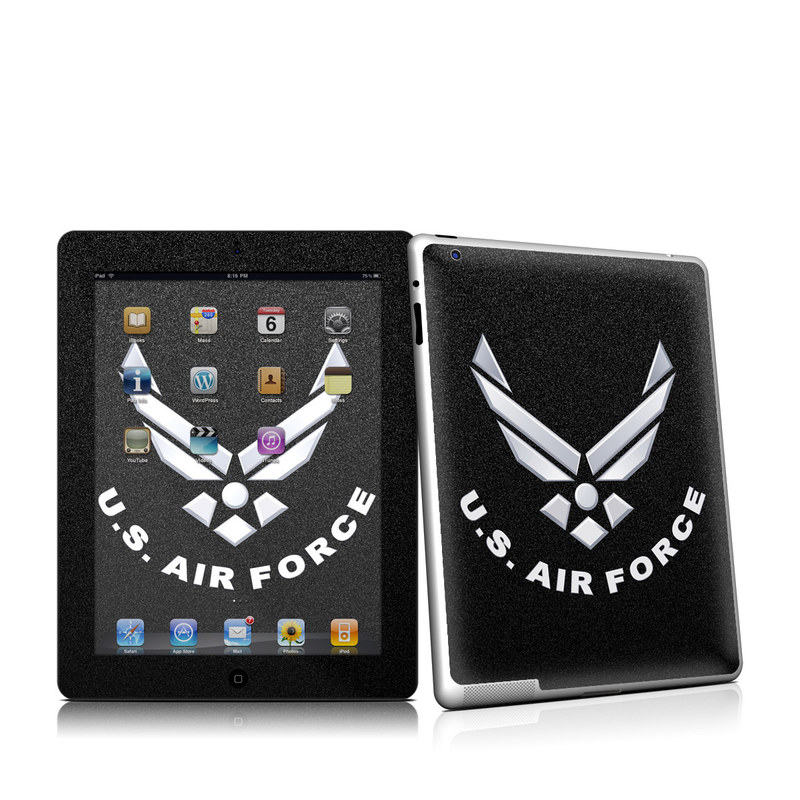 USAF Black iPad 2nd Gen Skin
