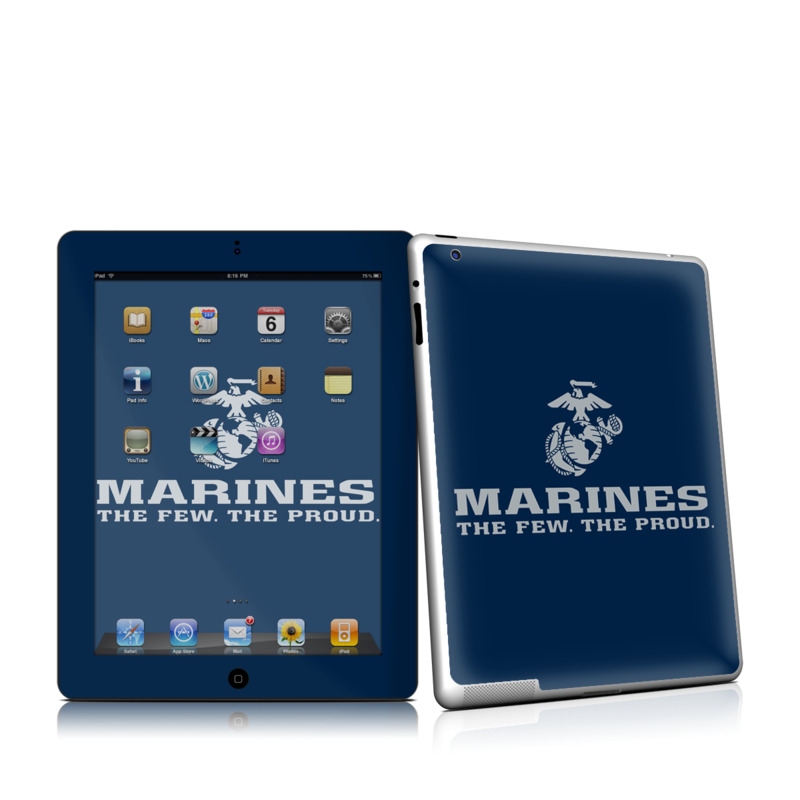 USMC Blue iPad 2nd Gen Skin
