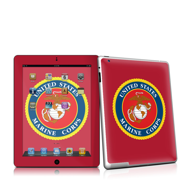 USMC Red iPad 2nd Gen Skin