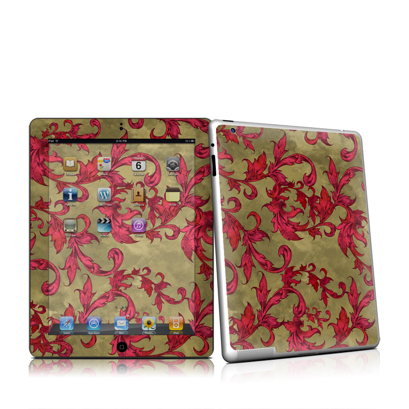 Vintage Scarlet Apple iPad 2 Skin