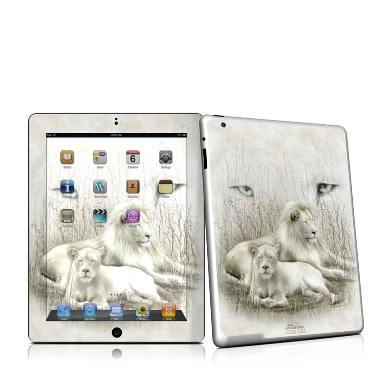 White Lion iPad 2nd Gen Skin