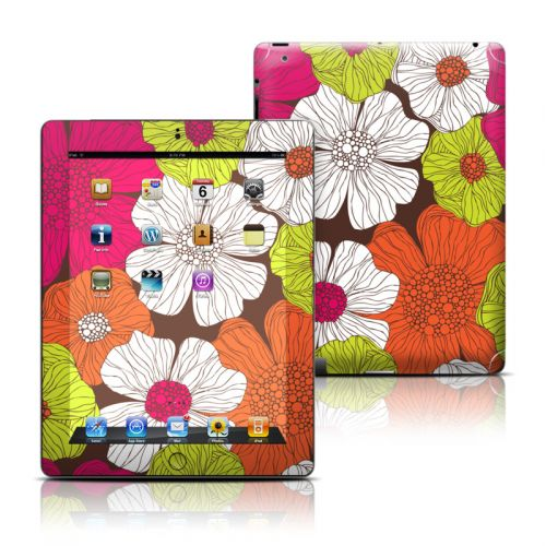 Brown Flowers iPad Skin