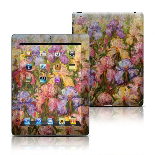 Field Of Irises iPad Skin