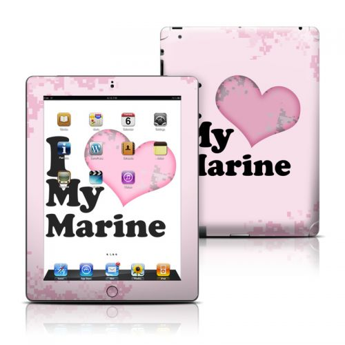 I Love My Marine iPad Skin