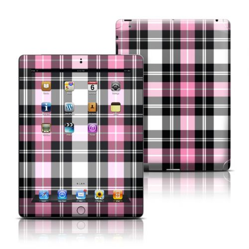 Pink Plaid iPad Skin