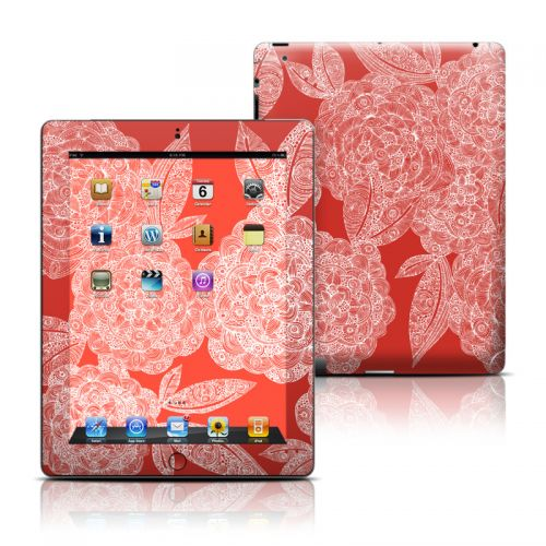Red Dahlias iPad Skin