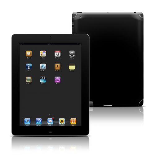 Solid State Black iPad 3rd & 4th Gen Skin