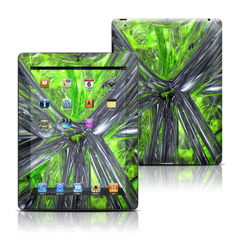 Emerald Abstract iPad 3rd & 4th Gen Skin
