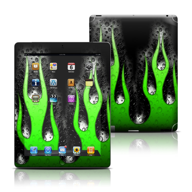 Acid Flames Apple iPad Skin